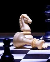 white queen checkmated by black